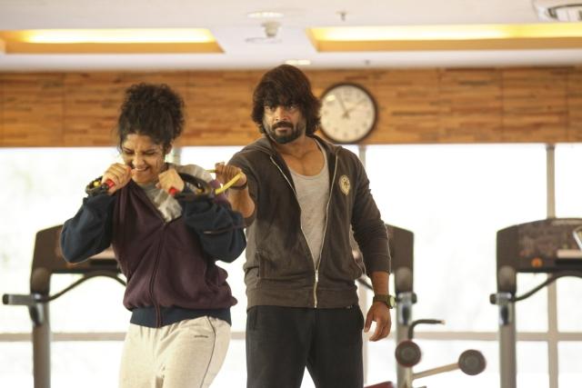 R Madhavan in a scene from <i>Saala Khadoos</i>