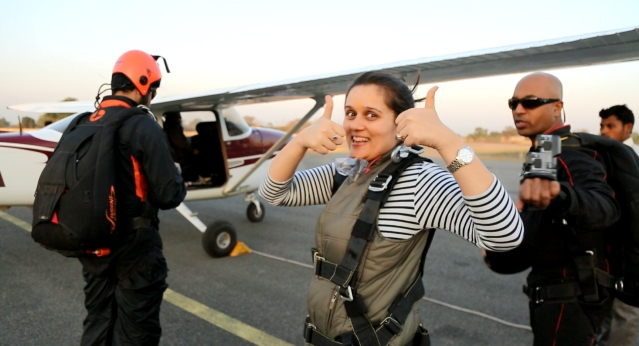 The brave smile before boarding the Cessna. (Photo: <b>The Quint</b>)