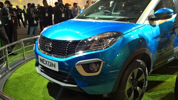 Tata Nexon at Delhi Auto Expo 2016. (Photo: Manav Sinha/<b>The Quint</b>)