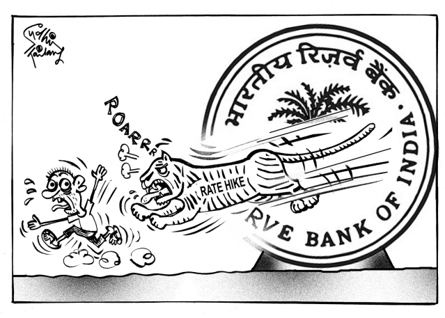 Sudhir's cartoon on the Indian economy.