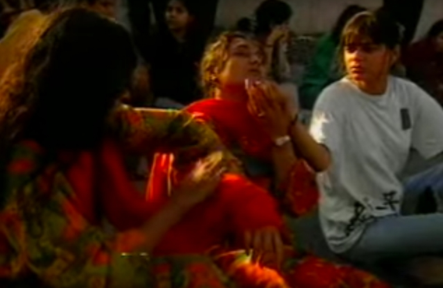 A photo of protesting students, many of whom were badly injured in a police lathi-charge during one of the many protests in 1997. (Photo Courtesy: YouTube Screenshot/Ek Minute Ka Maun)