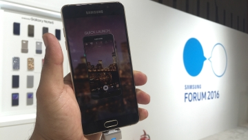 Galaxy A5 launched at the Samsung Forum 2016. (Photo Courtesy: Siddhartha Sharma)