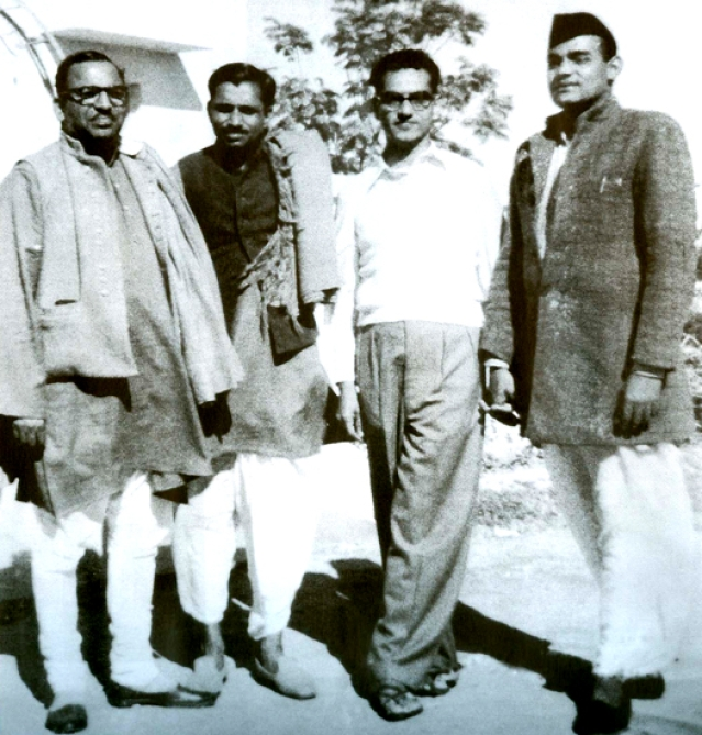 Deendayal's colleagues and friends were impressed by his strong, moral beliefs about politics. He is seen here with former Prime Minister Atal Bihari Vajpayee.