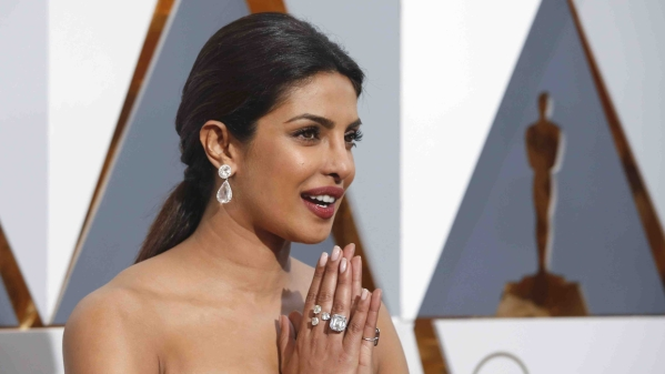 Priyanka Chopra arrives at the Oscars on Sunday, 28 Feb. 2016, at the Dolby Theatre in Los Angeles. (Photo Courtesy: Richard Shotwell/Invision/AP)