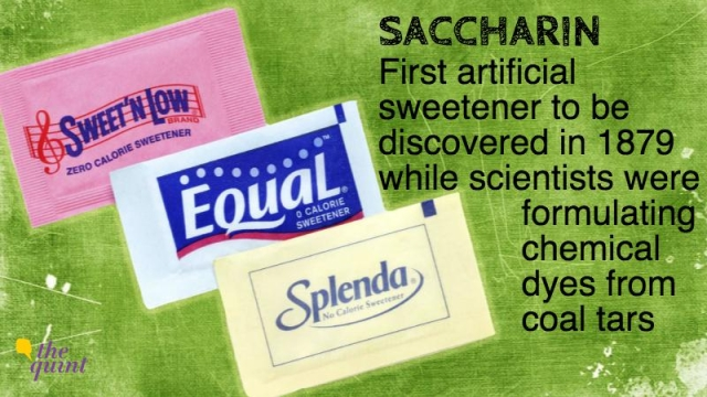 Saccharin has lost a lot of its popularity because of the cancer controversy. It also leaves a bitter aftertaste, so is generally replaced by aspartame and other newer and better-tasting artificial sweeteners (Photo: The Quint).