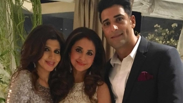 Urmila Matondkar with husband Mohsin Akhtar Mir and a friend (Photo courtesy: Instagram)