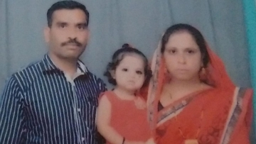 "Naik Rajput with his wife and a 2-yr-old daughter. (Photo Courtesy: Twitter/<a href=""https://twitter.com/jrpur"">@jrpur</a>)"