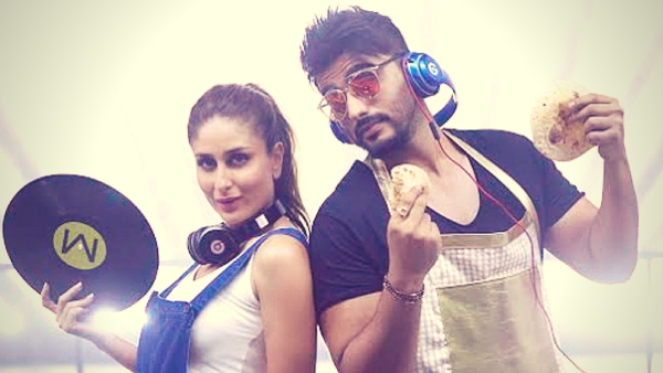 Kareena Kapoor and Arjun Kapoor in a scene from <i>Ki &amp; Ka'</i>s dance number <i>High Heels </i>(Photo: YouTube/T-series)