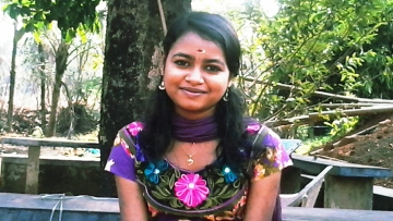 Akshara R was  asked to move out her hostel as she is HIV positive. (Photo: <i>The News Minute</i>)
