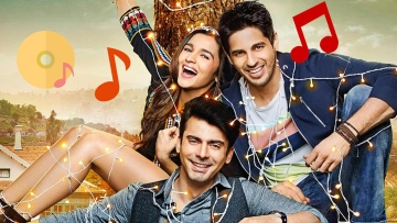 Alia Bhatt with Sidharth Malhotra and Fawad Khan in <i>Kapoor & Sons</i>