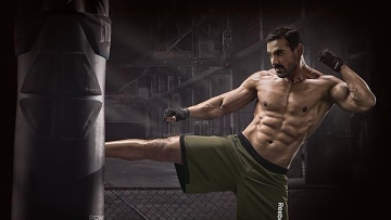 "John Abraham training for Rocky Handsome. (Photo: <a href=""https://twitter.com/TheJohnAbraham/status/699201164835819521"">Twitter</a>)"