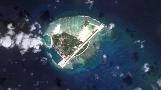 Aerial view of Woody Island in the disputed South China Sea. (Photo Courtesy: Google Maps)
