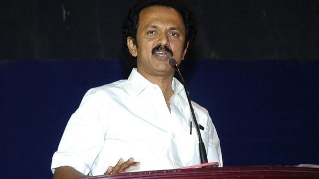 DMK treasurer, MK Stalin. (Photo Courtesy: <i>The News Minute</i>)