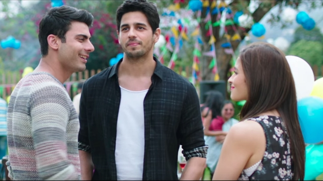 Fawad Khan, Sidharth Malhotra and Alia Bhatt in <i>Kapoor & Sons </i>(Photo Courtesy: YouTube Screengrab)