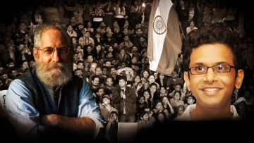 Prof Sheldon Pollock and Rohan Murty. (Photo: <b>The Quint</b>)