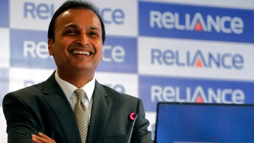 Anil Ambani, chairman of the Reliance Anil Dhirubhai Ambani Group during a news conference in Mumbai.