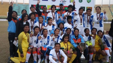 """File photo of Indian Women's National Team (Photo: <a href=""""https://www.facebook.com/IndWNT/photos"""">Indian Women's Football Team Facebook</a>"""