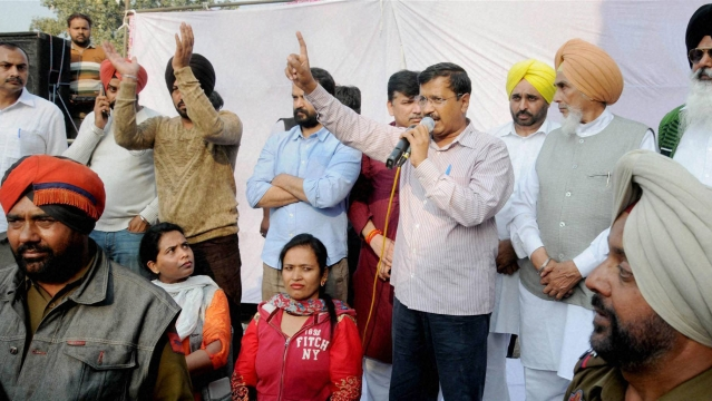 Delhi Chief Minister Arvind Kejriwal speaks during a public rally in Amritsar, 27 February 2016. (Photo: PTI)