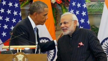 File photo US President Barack Obama and Indian Prime Minister Narendra Modi. (Photo: Reuters)