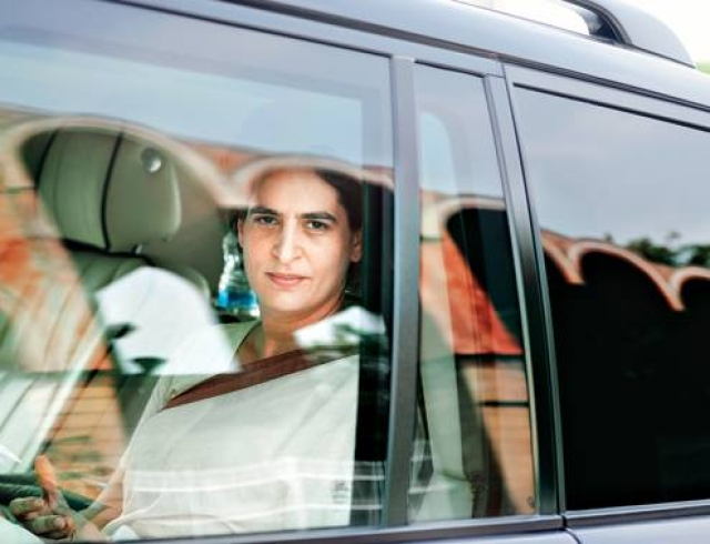 Priyanka on the campaign trail.