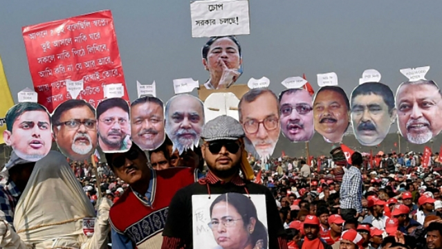 A CPI-M protest against Mamata Banerjee government. (Photo: PTI)