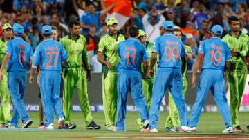 India and Pakistan teams shake hands after their World Cup encounter in 2015. (Photo: Reuters)