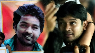 Jawaharlal Nehru University Students' Union President Kanhaiya Kumar (right), PhD scholar Rohith Vemula. (Photo: PTI, altered by <b>The Quint</b>)