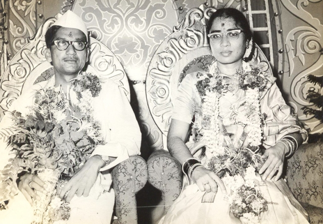 Ravindra Mhatre had accompanied his brother to 'see' a girl for marriage, but fell in love with the girl's sister instead. Ravindra Mhatre then went on to marry Dr Shobha Pathare. (Photo: Asha D'Souza)
