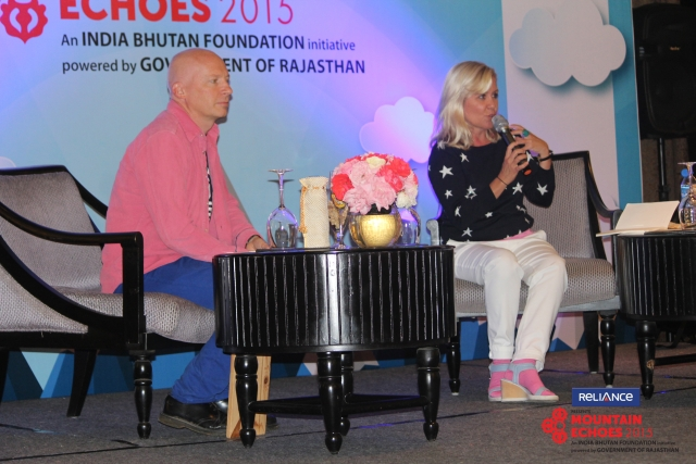Marcus DuSautoy (L) and Lucy Hawking (Photo Courtesy: Bhuwan Kafley)