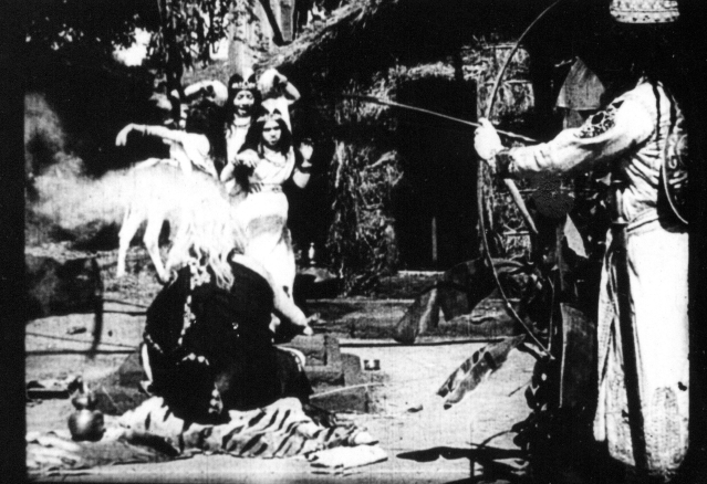 """A still from the silent film <i>Raja Harishchandra</i> (1913) which was directed and produced by Dadasaheb Phalke, and is the first full-length Indian feature film. PK Nair was instrumental in archiving several such films. (Photo courtesy: <a href=""""http://phalkefactory.net/"""">PhalkeFactory</a>)"""