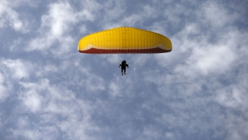 File photo of paragliding.