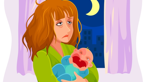 Oh, the troubles of a new mommy! (Photo: iStock)