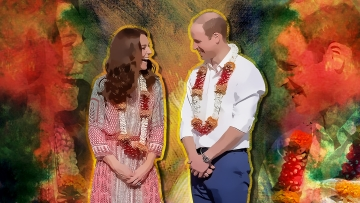 Welcome to Mera Bharat Mahan, William and Kate. (Photo: Altered by Rahul Gupta/<b>The Quint</b>)