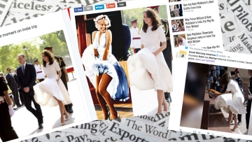 Marilyn Monroe vs Kate Middleton in the media (Photo courtesy: Twitter screengrabs)