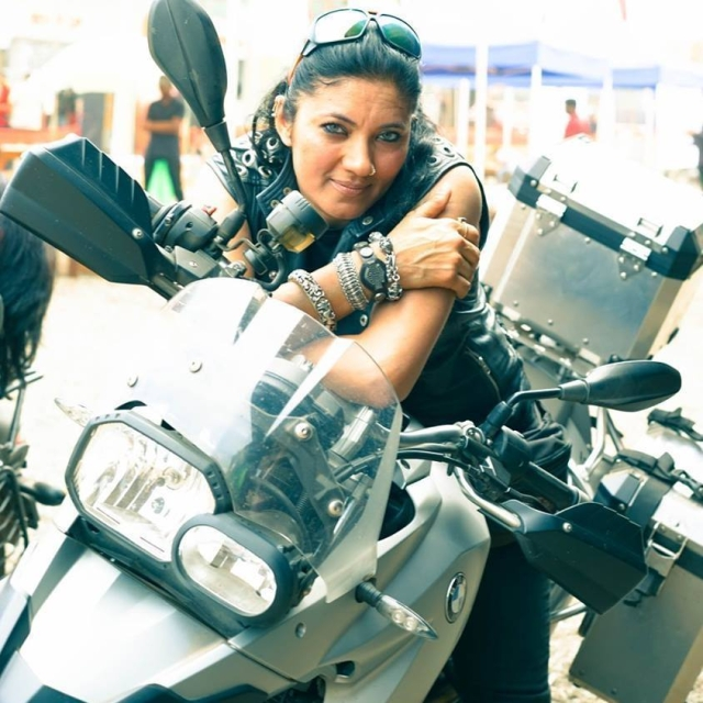 "Veenu Paliwal was also known as the 'Lady of Harley'. (Photo Courtesy: Facebbok/<a href=""https://www.facebook.com/photo.php?fbid=10154324648121165&set=a.465353836164.254436.616451164&type=3&theater"">Veenu Paliwal</a>)"