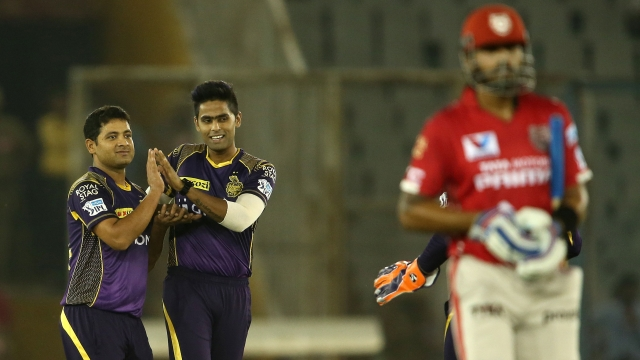 Piyush Chawla celebrates Murli Vijay's wicket with team vice captain Surya Kumar Yadav (Photo: BCCI)