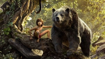 A still from the movie, The Jungle Book.