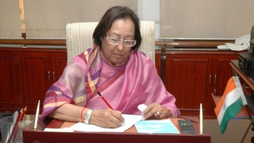 "Minister of Minority Affairs, Najma Heptulla. (Photo courtesy: Twitter/<a href=""https://twitter.com/PIB_India/status/471251464761769984"">@PIB_India</a>)"
