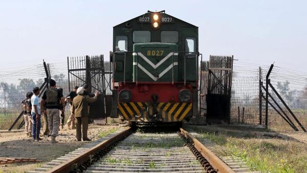 File photo of Samjhauta Express at Indo-Pak border. (Photo: IANS)