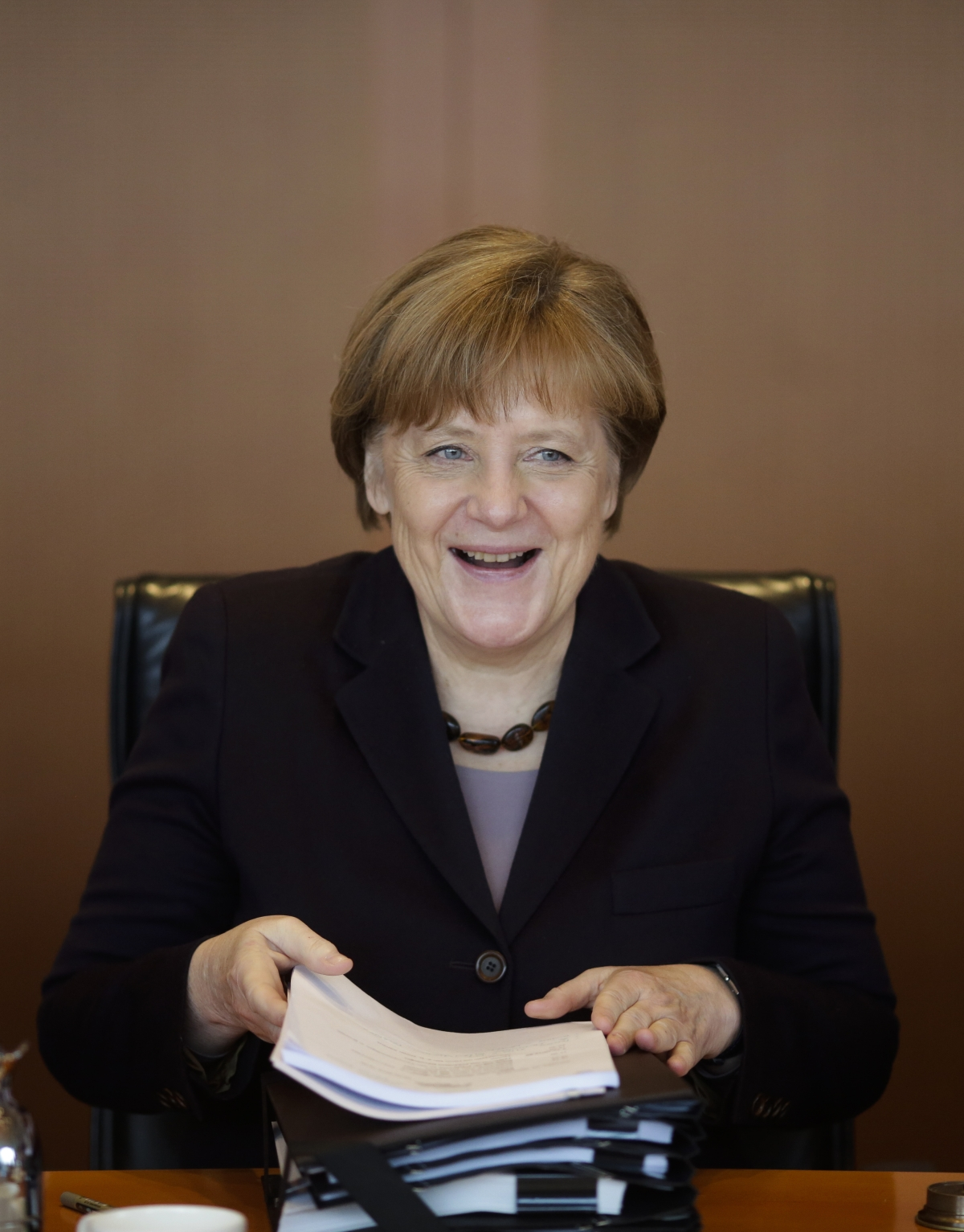 The German Chancellor has internalised a tendency to always treat food as a scarce commodity. (Photo: AP Exchange)
