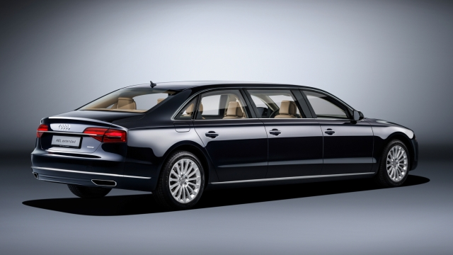 Audi A8L Extended from the back. (Photo Courtesy: Audi)