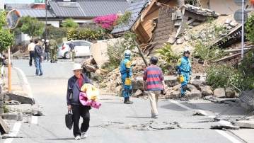 Post earthquake in Japan, Kumamoto Prefecture mashiki. (Photo: IANS)