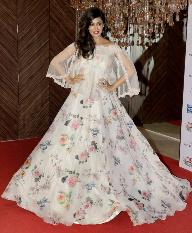 Chitrangada Singh looked resplendent in a flowery gown (Photo: Yogen Shah)