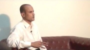 Kulbhushan Jadhav is shown to be a Commander in the Indian Navy in the video. (Photo: YouTube/DawnNews)