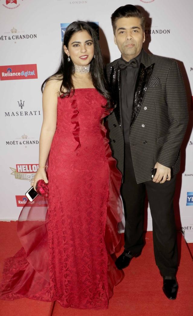Karan Johar's date for the night was Isha Ambani. The Filmmaker won the Creative Maverick Award (Photo: Yogen Shah)
