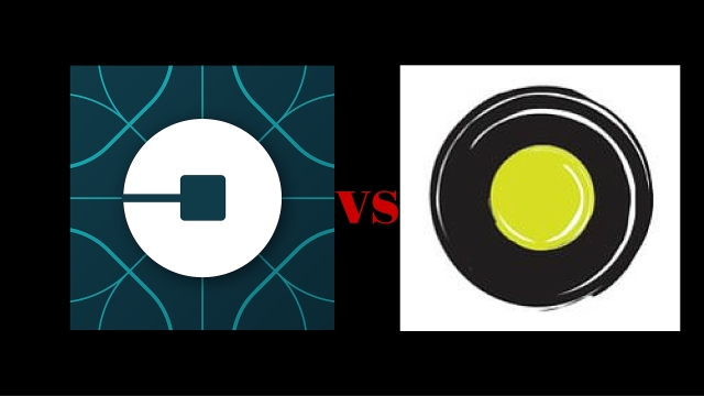 War of the app based taxi service. Uber's logo (left) and Olacabs' logo (right). (Photo Courtesy: Facebook)