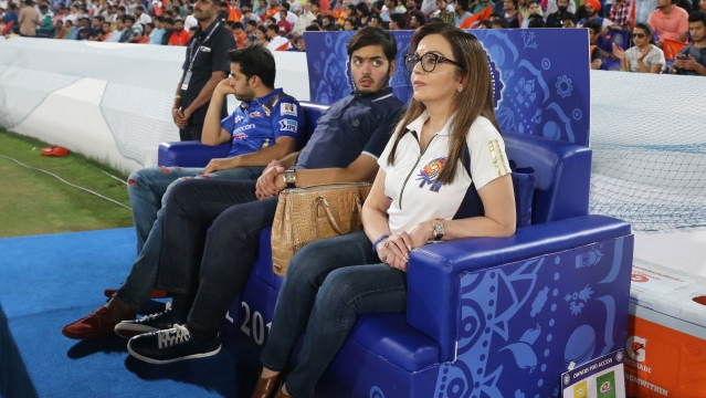Owner of Mumbai Indians, Nita Ambani is always there to cheer to her team alongside her son Anant Ambani. (Photo: BCCI)