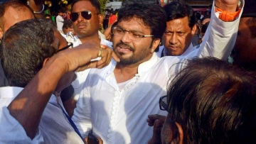File image of Union Minister Babul Supriyo.