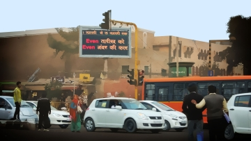 For cities in developing countries, personal exposure to air pollutant is directly linked to impact on health. (Photo: IANS/Altered by <b>The Quint</b>)