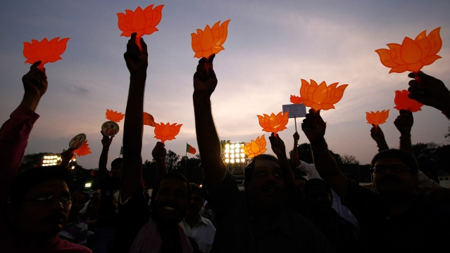 File photo of BJP victorious. (Photo: Reuters)